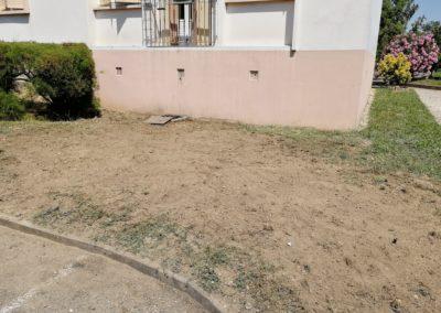 photos assainissement remplacement terrassement